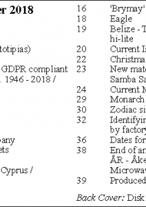 MLN 430 December 2018 contents
