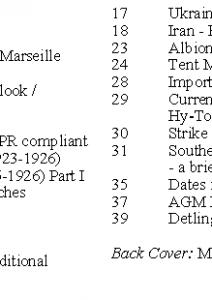 MLN 433 June 2019 contents