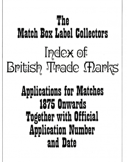 Index of British Trade Marks, page 1