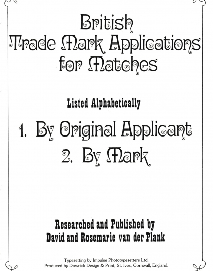 Index of British Trade Marks, page 2