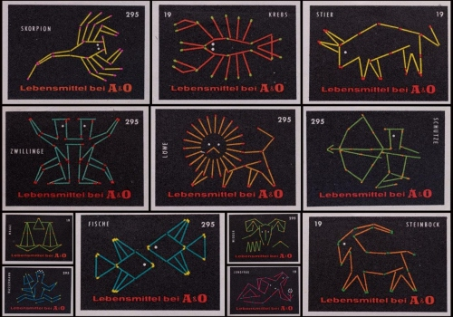 German labels, Signs of the Zodiac