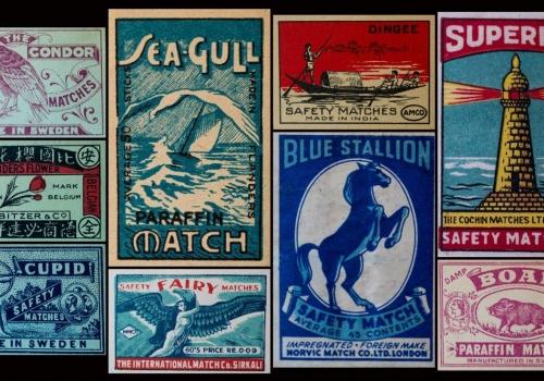 Matchbox labels art and design