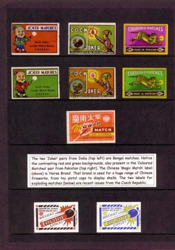 India, Pakistan, China, Czech labels