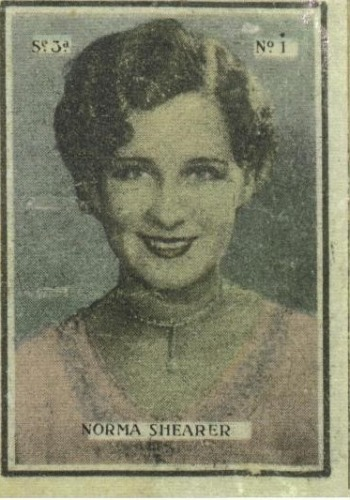 Unique box, showing Norma Shearer