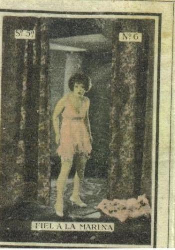 Unique box, showing Clara Bow