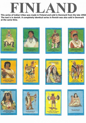 A set of 25 labels with Native Americans