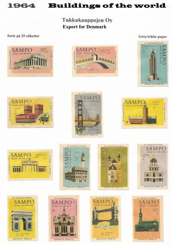 A set of 25 buildings worldwide