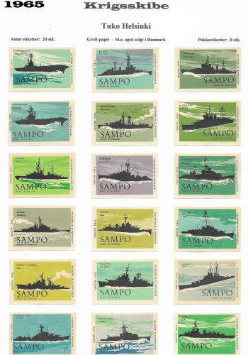 A set of 24 warships of the world
