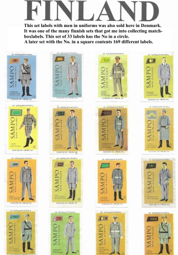 A set of 33 labels with Uniforms