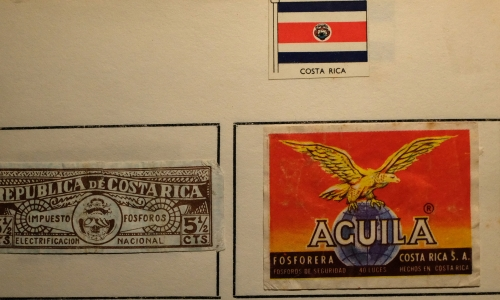 A label with its matching tax band from Costa Rica
