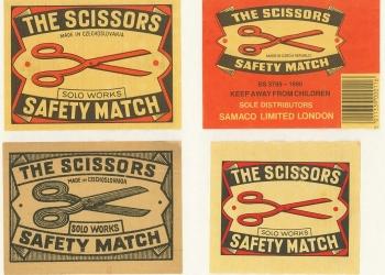 Box labels, The Scissors