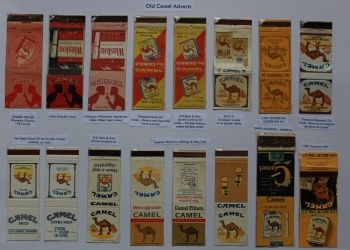 Camel bookmatches, before Joe