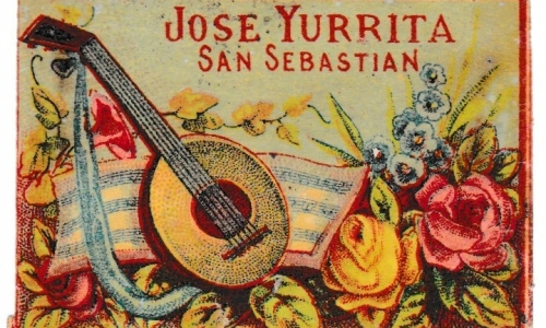 Spanish box label, pre 1892