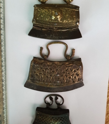 Three with full front metal decoration