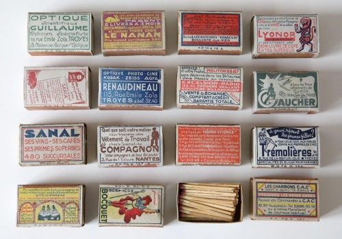 Advertising boxes, 1930s, back