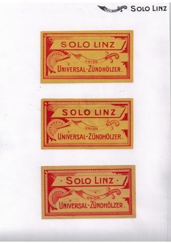 Solo Linz labels, 1904 - 1916