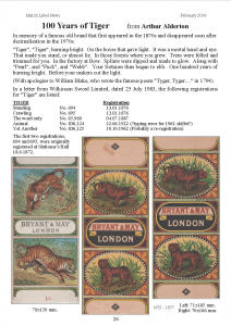 100 years of Tiger - MLN 425 February 2015 p26