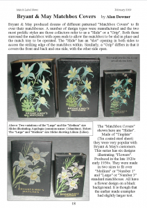 Bryant and May matchbox covers - MLN 371 February 2009 p18