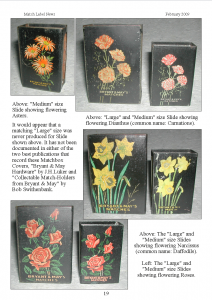 Bryant and May matchbox covers - MLN 371 February 2009 p19