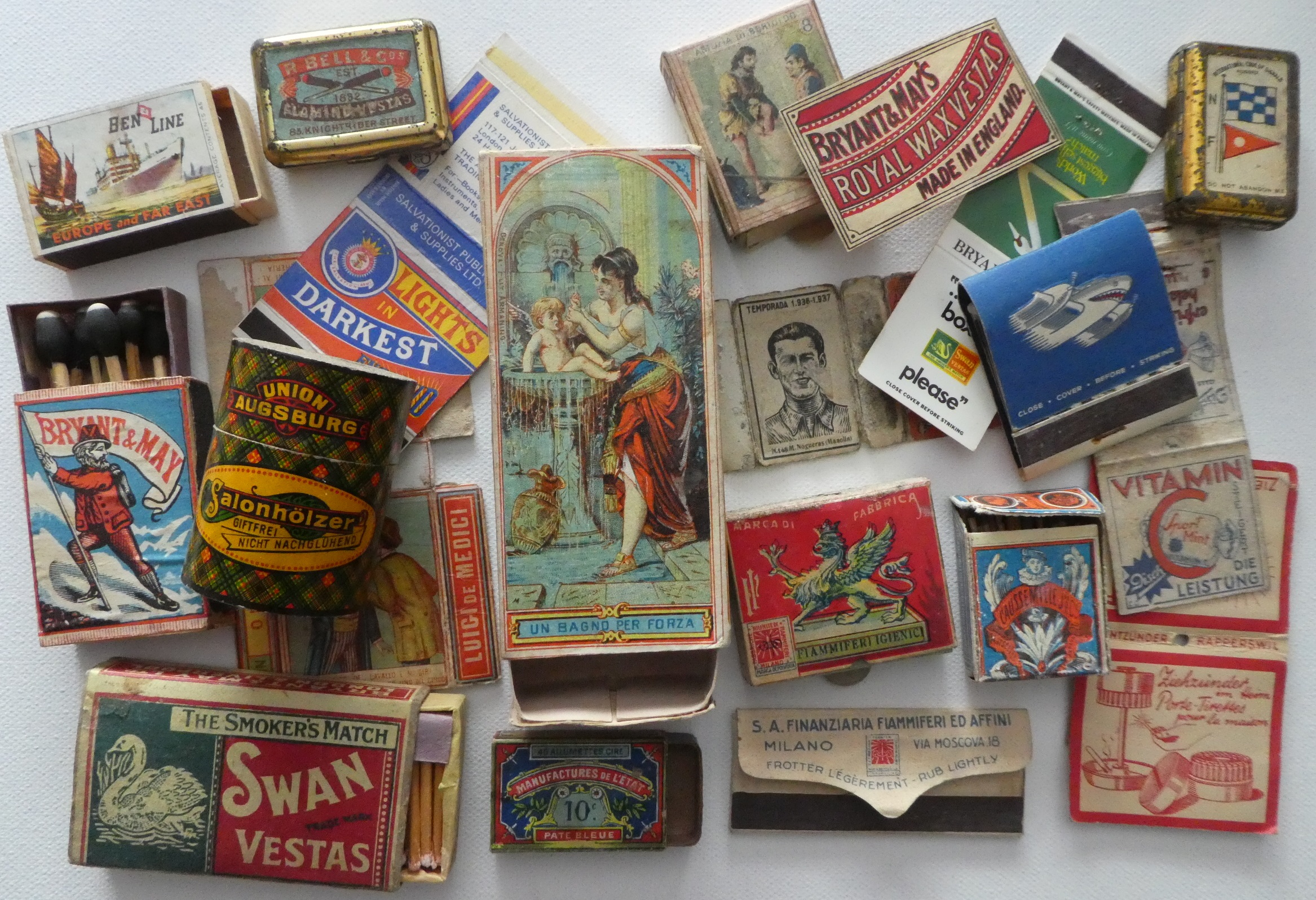 Here are some matchboxes, bookmatches and other items that our members collect