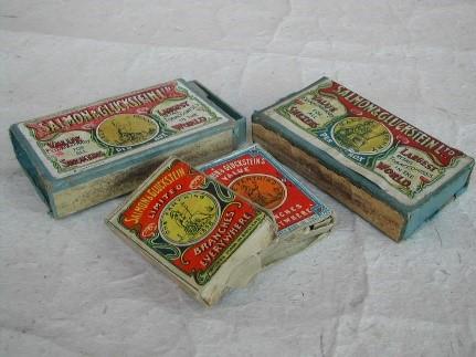 British market matchboxes ca. 1898 – 1910