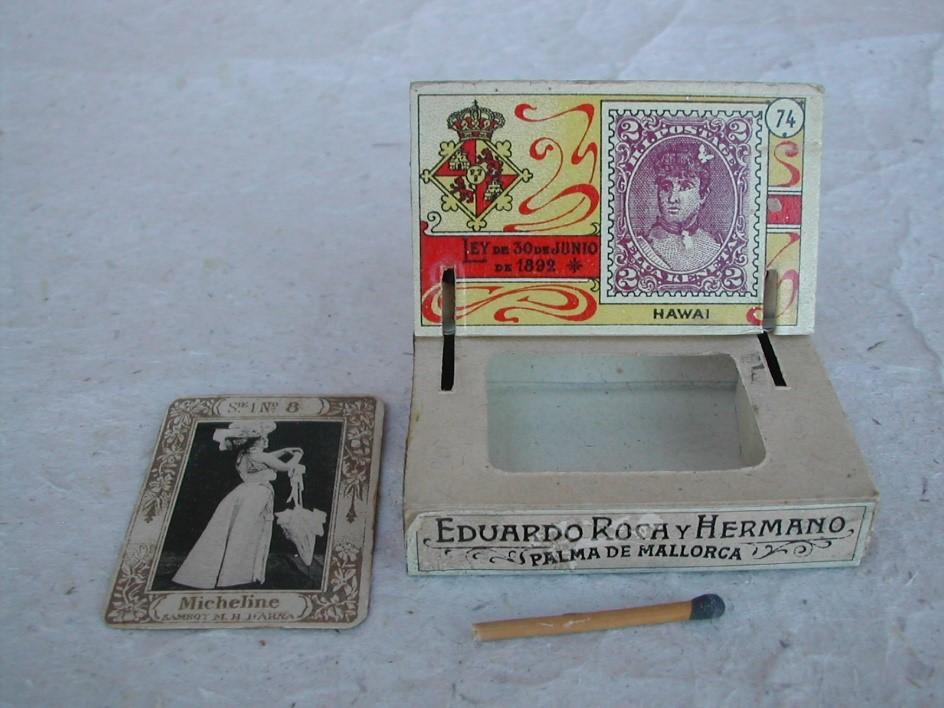 Spanish matchbox with Insert ca. 1894