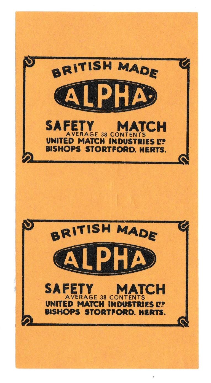 Alpha box label, artb, 56 x 111 mm