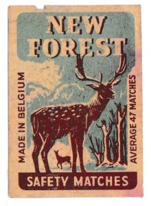 New Forest box label, 35 x 50 mm