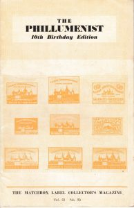 The Phillumenist magazine, 10th Birthday edition, 1950