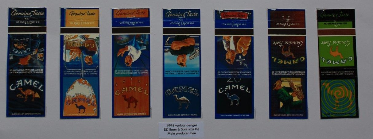 Some of the Joe Camel bookmatches I won in 2021