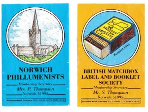 Matchbox Club labels from 1983