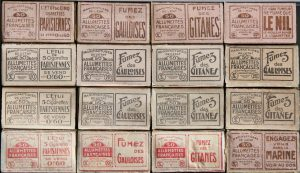 Advertising boxes, 1920s, 62 x 35 x 15 mm