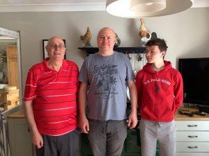 Alan, Mark and Padraig