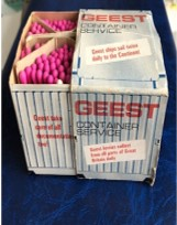Promotional box for Geest's Container Service