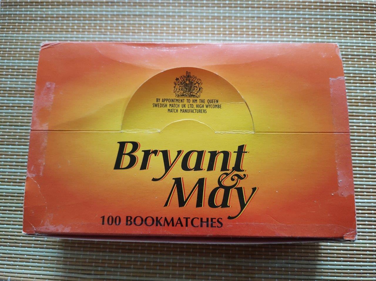 Bryant & May caddy, 130 x 51 mm