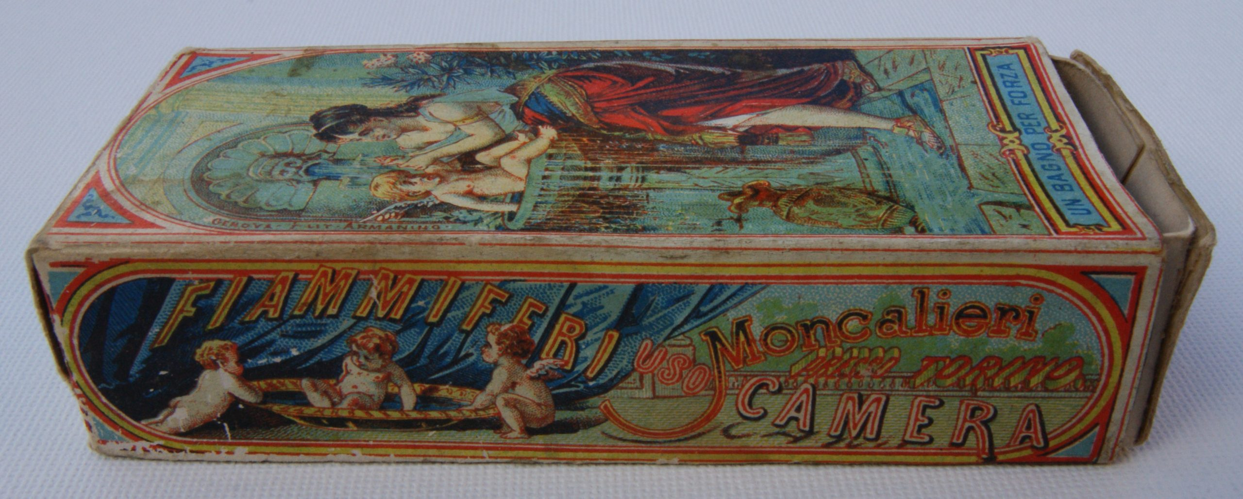 A. Dellacha box (view showing a side elevation of the matchbox)