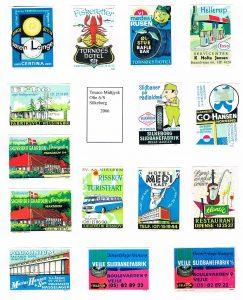 Some Knud Jensen advertising labels