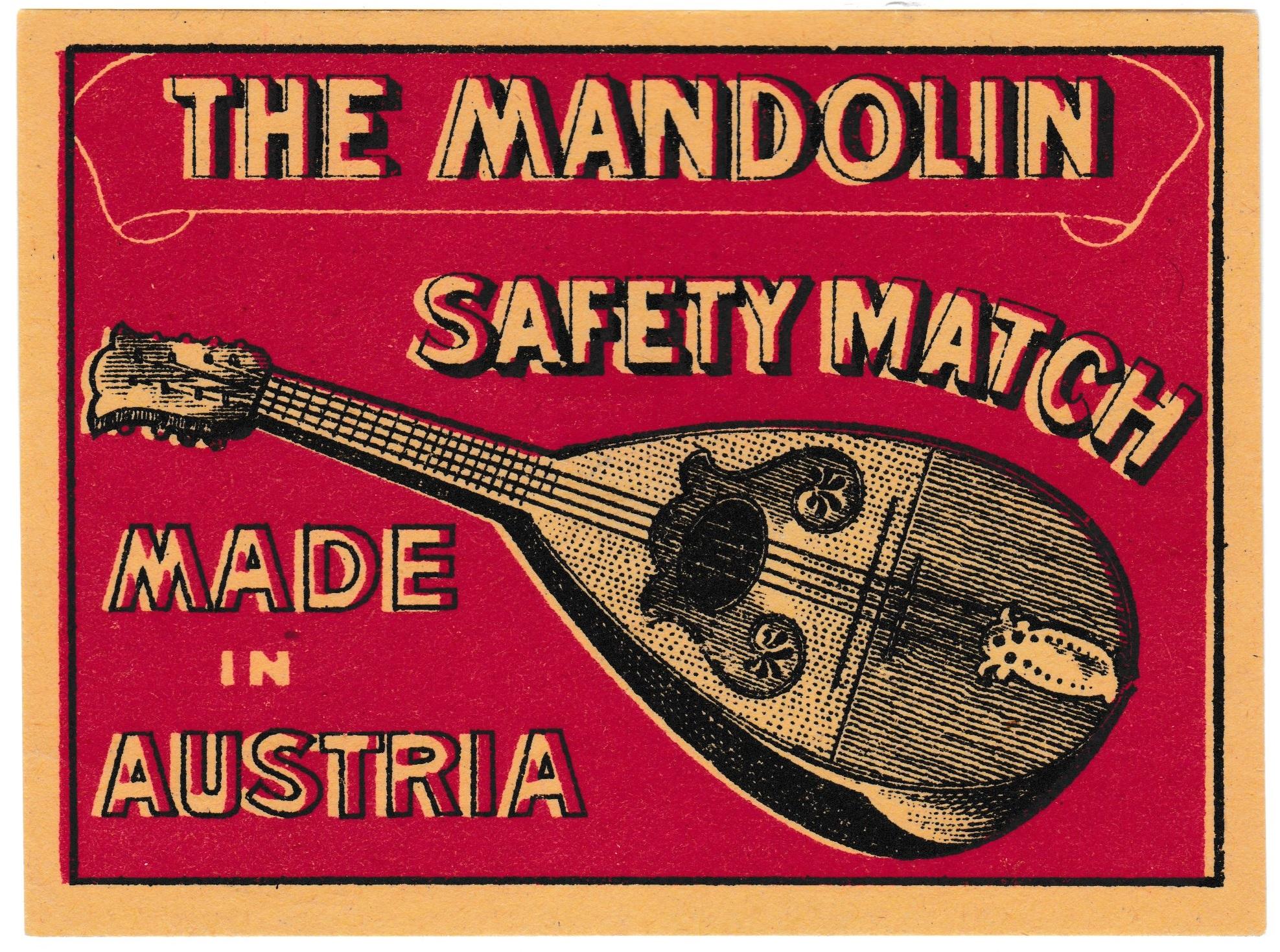 Austrian packet label, 90 mm x 67 mm