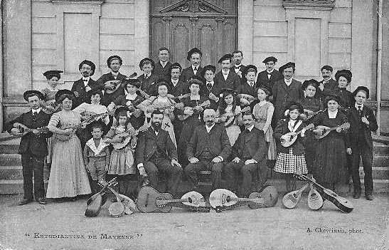 Mandolin Orchestra, France ca. 1900