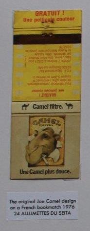 The original Joe Camel design, 1976