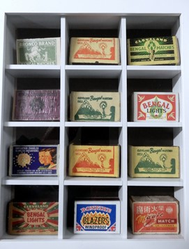 Some complete Bengal matchboxes