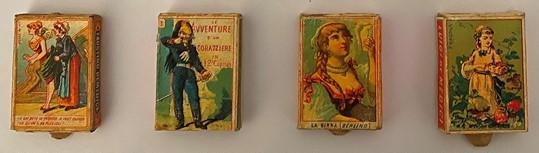 Matchboxes by Faustino de Medici, Giacomo de Medici, L. Baschiera e C. , Luigi de Medici