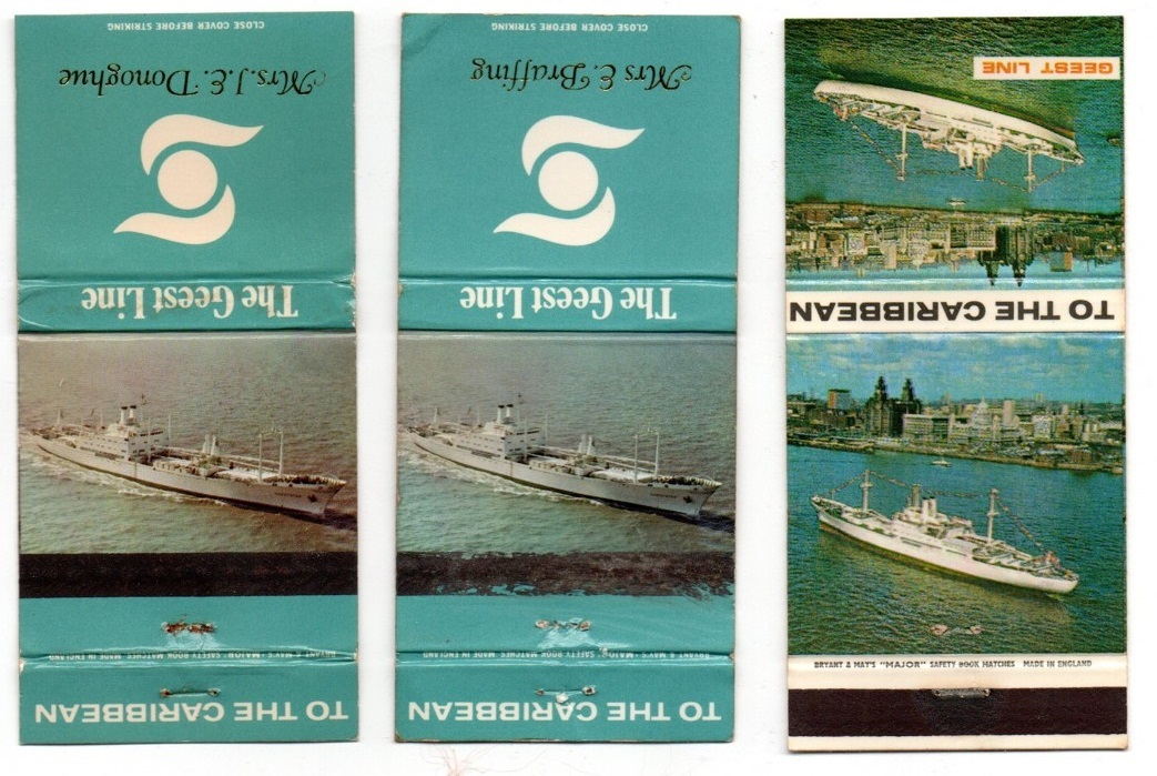 Matchbook covers relating to the Geest Line Banana Trades