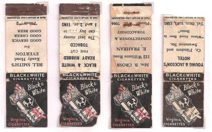 Black & White cigarettes, logo series covers