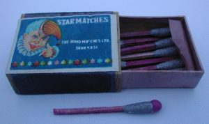 Indian box with Bengal Match