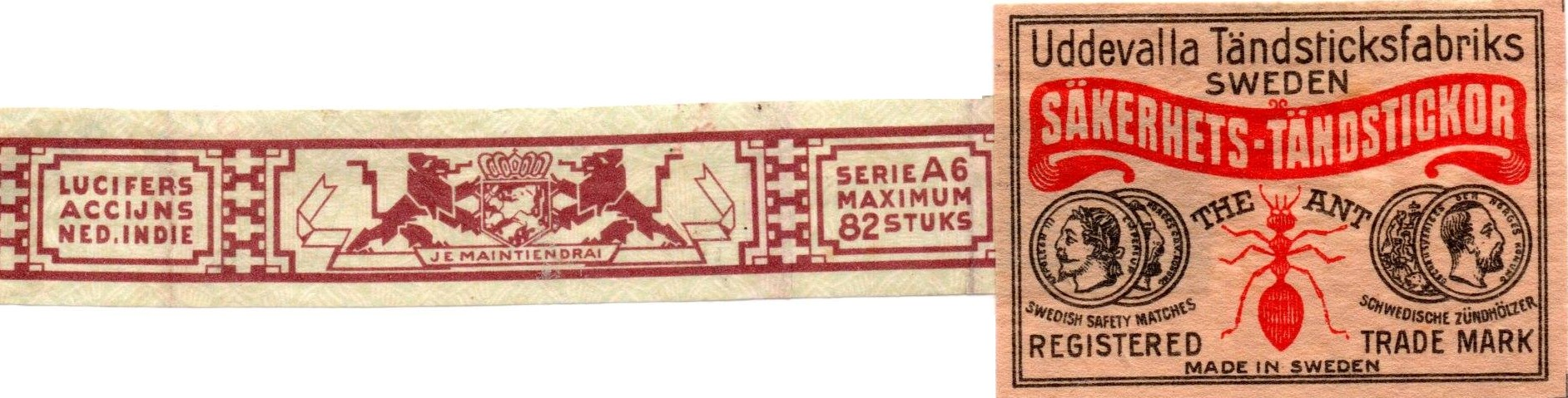 Tax stamp and label, 30 x 45 mm
