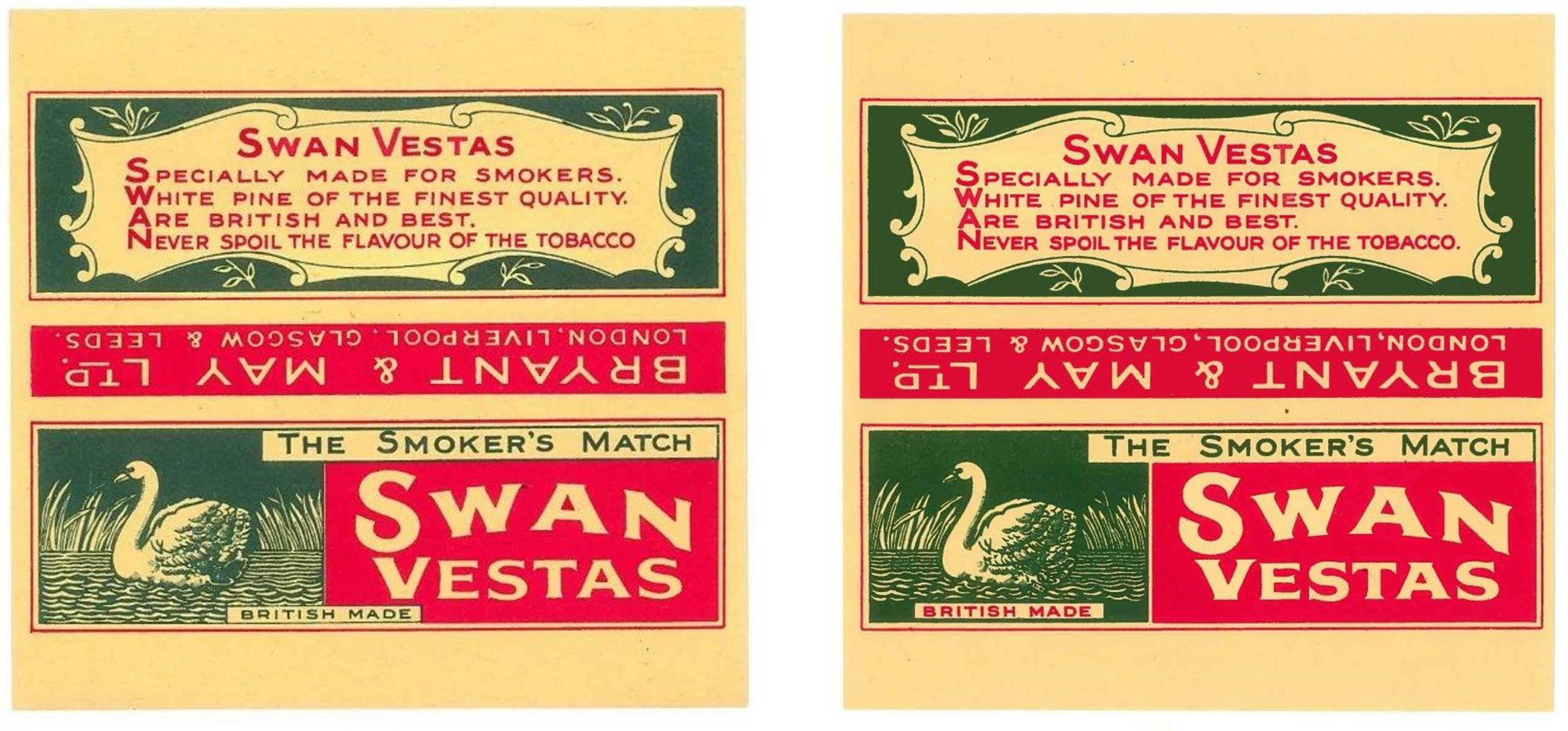 1931 and 1938 No. 15 labels
