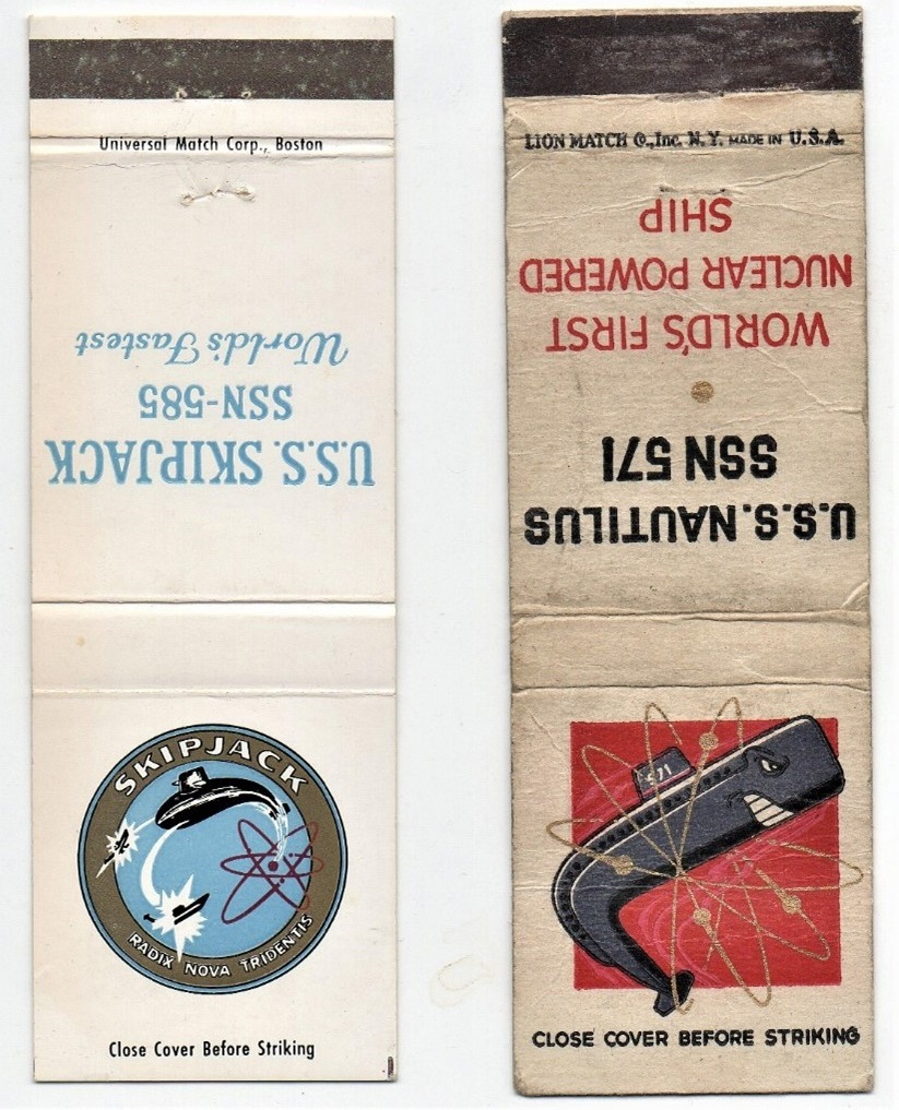 USS Navy bookmatches
