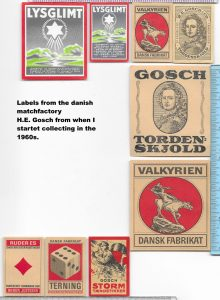 H. E. Gosch labels from the 1960s