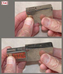 """Stay-lit"" matchbox holder, 57 x 36 x 16 mm"